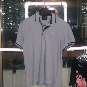 Authentic Dolce & Gabbana Grey Button Up Polo